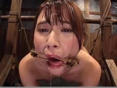 花咲いあん 開口器と水責め緊縛拷問逆噴射
