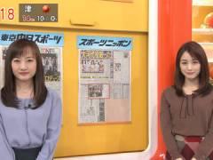 新井恵理那さんの上向きなおっぱい。