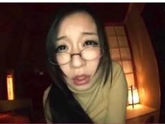【仲村茉莉恵】メガネのインテリお姉さんがフェラチオ!マシュマロボインでエロすぎます!