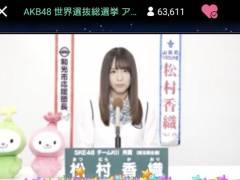 【悲報】 SKE 松村香織 「去年が最後の総選挙のつもりが、直前に須藤がヤラかし再度出馬することになった。」