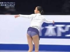 女子フィギュア、ユ・ヨン選手、タンポンが完全に出てしまう放送事故wwwwwww