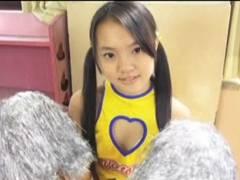 13歳現役JCジュニアアイドル冴己來歩ちゃん、胸開きチアコスでフジコ寸前wwww