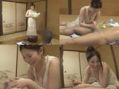 都会を離れたとある温泉旅館で出張洗い屋のお姉さんが勃起チ◯ポを優しい洗浄で発射させる