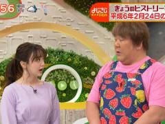 テレ東・森香澄アナ、ワンピの胸元がパッツパツになってしまう。