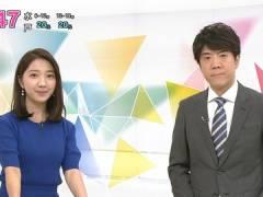 NHK保里小百合アナ、早朝からエロく見えてしまう横乳。