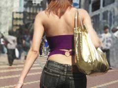 【街撮りギャル画像】露出過多な私服で背中を魅せる街角女子撮り!