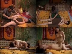 タイ古式マッサージに興味を持った美人妻が無料体験を受けると羞恥ストレッチに感じてびしょ濡れ