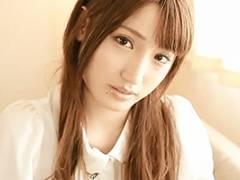 愛沢かりん 透明感溢れる芸能人級の超絶美少女!エロすぎる表情でちんぽをねっとり主観フェラ!
