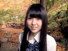 【あおいれな】黒髪ロング美乳JK少女を温泉宿へ性愛旅行。敏感オマ○コ感度!本気イキ