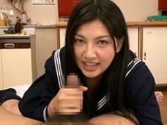 【原紗央莉】女子校生のやわらかい手でオナニーを優しくお手伝いしてあげる