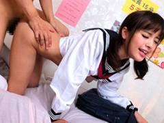 桃乃木かな イメクラでJKコスプレの美少女がおねだりセックス!