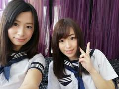 春菜はな、Kカップで女子高生の制服を着ている写真がまるで爆乳JK
