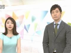 NHK保里小百合アナのパッツパツな胸元。