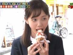 田中瞳アナのエロい擬似フェラチオ食べ顔キャプ!テレビ東京女子アナ