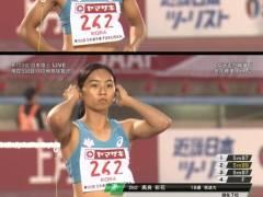 日本陸上競技選手権大会、18歳美女のマンスジがくっきり!エロカメラマン、狙ってる・・・