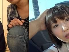 サッカー部マネージャJKの深田結梨ちゃんが部活終わりに車内で玉舐めこっそりフェラ
