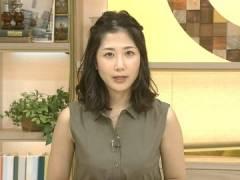 桑子真帆アナ、衣装の胸元を押し上げるおっぱい。