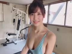 天然GカップグラビアアイドルAV女優・桜空もも、ジムでエアロバイクを漕いでいる姿がエロいと話題に
