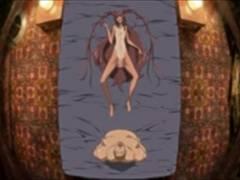 エロエロアニメ 小柄な褐色貧乳くの一がキモデブおじさんに犯されアヘアへ中出し