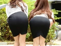 【エロ画像】OLさんのタイトスカート後ろから撮った結果。仕事中に勃起不可避wwwww