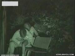 シコれる!!これは抜ける!!赤外線カメラ盗撮深夜公園で彼女手マンして発情した彼女がフェラチオ