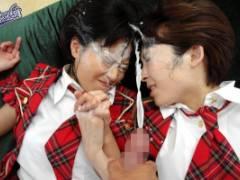 朝田ばなな 友田彩也香 とんでもない巨チンで感じまくり!最後は大量ザーメン顔射で大はしゃぎ