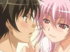 【エロアニメ】 朝っぱらから家に押しかけてきたピンク髪電波女にパイズリで誘惑され逆レイプ気味挿入中出しセックス