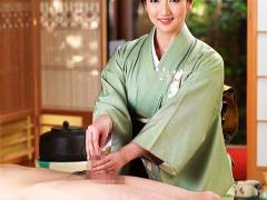 【おっぱい】熟女・とてもエロいチンチン作法教室!着物の熟女先生が手コキなどを教えます。