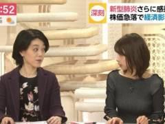 加藤綾子がピチピチニットセーターではち切れそうなプルンプルンのロケットおっぱいの形が浮き彫りの着衣巨乳キャプ!