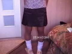 「首輪をつけた感想は?」JCっぽい援●交少女をペット調教とセックスの記録映像www