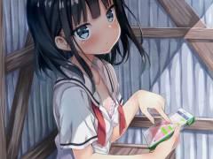 【二次・ZIP】ブラジャーちらり見えてる虹美少女のブラチラ画像