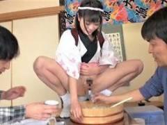 【みおり舞】マゾなオトコ必見の[おしっこ]が味わえるヘンタイ寿司や!