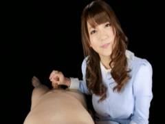 二宮沙樹 M男な彼氏のために一生懸命淫語手コキで責めてくれる可愛い彼女