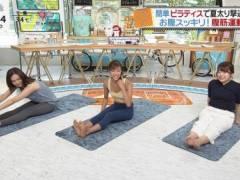 尾崎里紗アナのパンティーラインモロわかりキャプ!白いパンツでまんぐり返ししてムチムチお尻とパン線くっきりハプニング!日本テレビ女子アナ