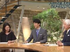 小川彩佳アナの机の下のミニスカ▼ゾーンパンチラハプニングキャプ!テレビ朝日女性アナウンサー