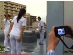 【病院】デカパイ看護婦を患者が隠し撮り!パンチラからセックスまで。