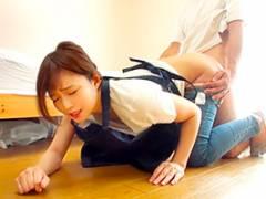 家事代行サービスでやって来たデカ尻妻をバックから襲ってやった。