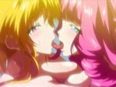 【エロアニメ】悪堕ちした仲間のふたなりチ○ポでズブズブハメられて自らも淫獣へと堕ちていく魔法少女