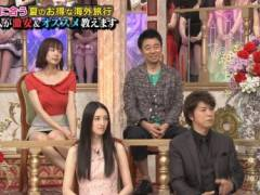 岡田紗佳のパンチラ美脚キャプ!ミニスカートで大きな▼ゾーンの奥までモロ見えパンチラハプニング!