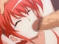 【エロアニメ】 妹系お嬢様を押し倒して両手拘束イラマチオして泣き叫ぶお嬢様の口を塞いで容赦なしの処女膜貫通中出しレイプ