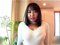 【月本愛】デカパイすぎるカフェ店員!初撮りAV!