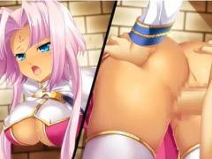 【恋姫†無双】褐色巨乳娘が壁穴にハマって動けない!?無防備なお尻にムラムラしたアナタは.....!(壁尻)