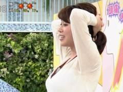 NHK中川安奈アナのストレッチ横乳がエロいことになってしまう。