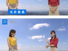 TBS美人新人アナ、シースルー衣装で黒ブラジャーが見えてしまう!