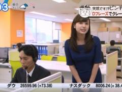 角谷暁子アナがムチムチのエロい身体のラインがわかる衣装で豊満おっぱいの形がくっきりの着衣巨乳キャプ!テレビ東京女子アナ