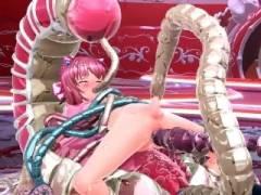 【3Dエロアニメ】魔界のグロテスクな拘束ベッドでおちん○んをジュボジュボ犯されちゃう魔法使いの男の娘
