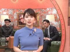 山本里菜アナがピチピチニットでムチムチの美乳そうなエロおっぱいの形が浮き彫りキャプ!TBS女子アナ
