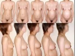 妊婦さんの変形まんこ、本当にドス黒くなるの?乳輪と乳首、全裸ヌードで検証(81枚)