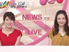 郡司恭子アナの黒いブラジャーの肩紐が丸見えハプニングキャプ!日本テレビ女子アナ