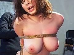 吉川あいみ 「私を縛って…」巨乳ボディのご令嬢を緊縛師が調教する!